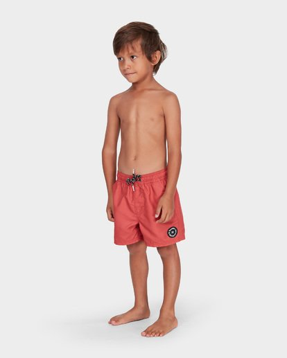 1 Groms All Day Layback Boardshorts Red 7582402 Billabong