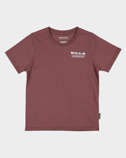 3 GROMS UNDER CUT TEE Red 7591000 Billabong