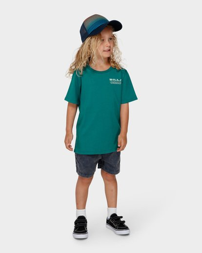 5 Groms Under Cut Tee Green 7591000 Billabong