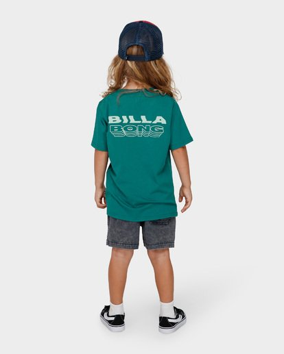 2 Groms Under Cut Tee Green 7591000 Billabong