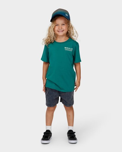 0 Groms Under Cut Tee Green 7591000 Billabong