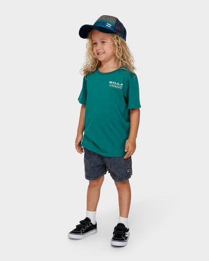 1 Groms Under Cut Tee Green 7591000 Billabong