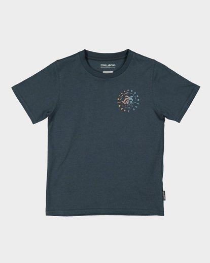 3 GROMS WHERE ITS FINE TEE Blue 7591001 Billabong