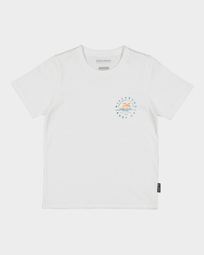 3 GROMS WHERE ITS FINE TEE White 7591001 Billabong