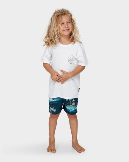 5 GROMS WHERE ITS FINE TEE White 7591001 Billabong