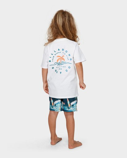 2 GROMS WHERE ITS FINE TEE White 7591001 Billabong