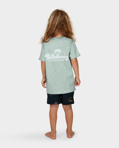 2 GROMS BEACH SCRIPT TEE  7591002 Billabong
