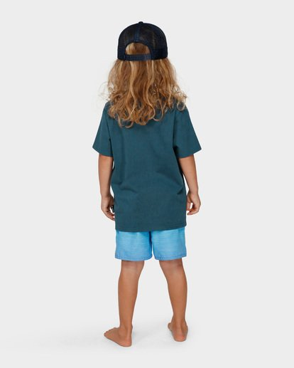 2 GROMS CALYPSO TEE Blue 7591004 Billabong