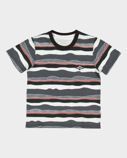 3 Groms Tear Stripe Tee Black 7591006 Billabong