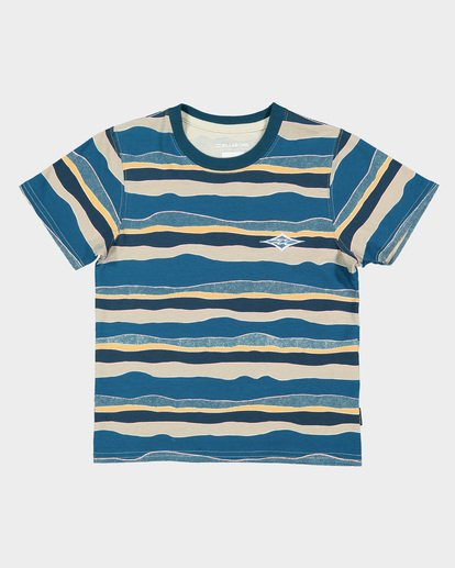 3 GROMS TEAR STRIPE TEE Blue 7591006 Billabong