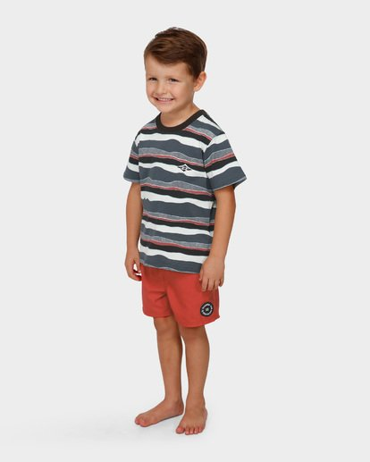1 Groms Tear Stripe Tee  7591006 Billabong