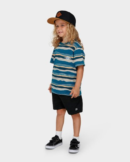 1 GROMS TEAR STRIPE TEE Blue 7591006 Billabong