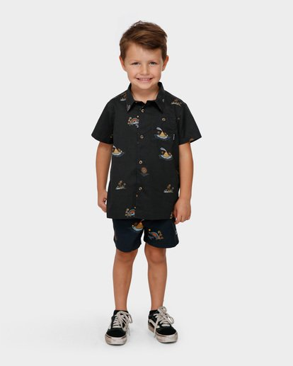 0 GROMS SUNDAYS SHORT SLEEVE SHIRT Black 7591205 Billabong