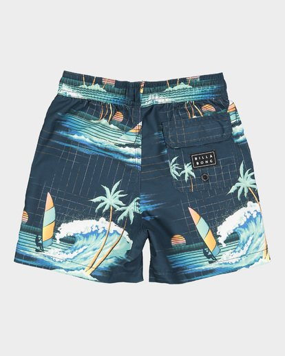 4 Groms Island Layback Blue 7591400 Billabong