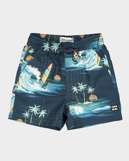 3 Groms Island Layback Blue 7591400 Billabong