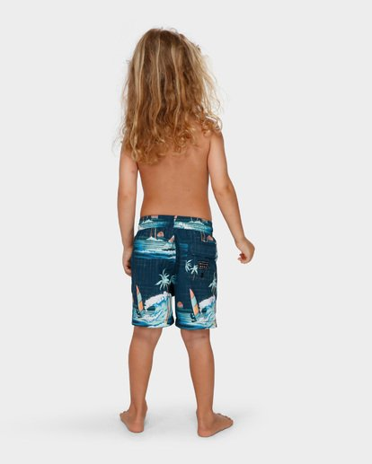 2 Groms Island Layback Blue 7591400 Billabong