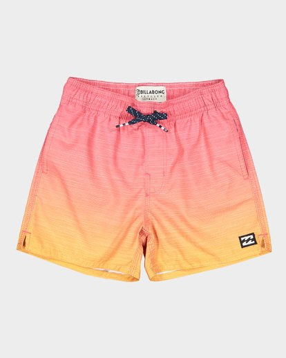 3 Groms Sergio Layback Boardshorts Orange 7591401 Billabong
