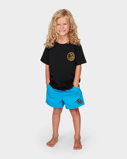 5 Groms Lil Yang Tee Black 7592008 Billabong