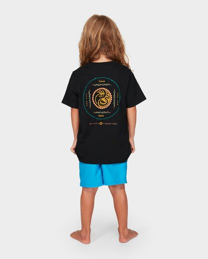 2 Groms Lil Yang Tee Black 7592008 Billabong