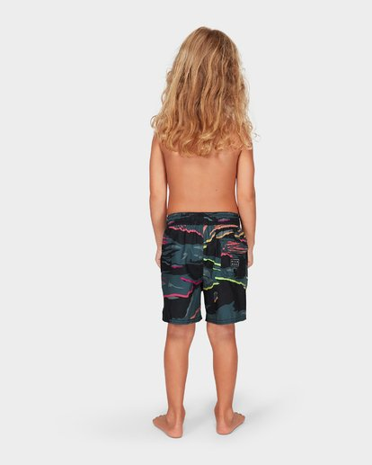 3 Groms Sundays Layback Boardshorts Black 7592405 Billabong