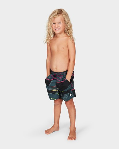 2 Groms Sundays Layback Boardshorts Black 7592405 Billabong