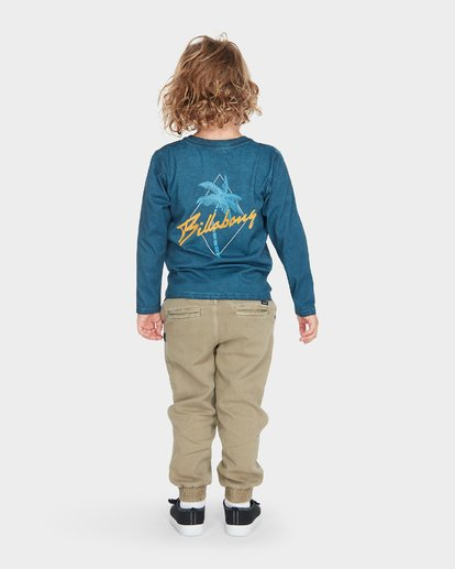 2 BOYS PALMA LONG SLEEVE TEE Blue 7595102 Billabong