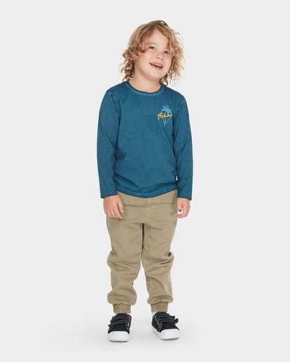 0 BOYS PALMA LONG SLEEVE TEE Blue 7595102 Billabong