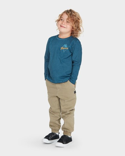 1 BOYS PALMA LONG SLEEVE TEE Blue 7595102 Billabong
