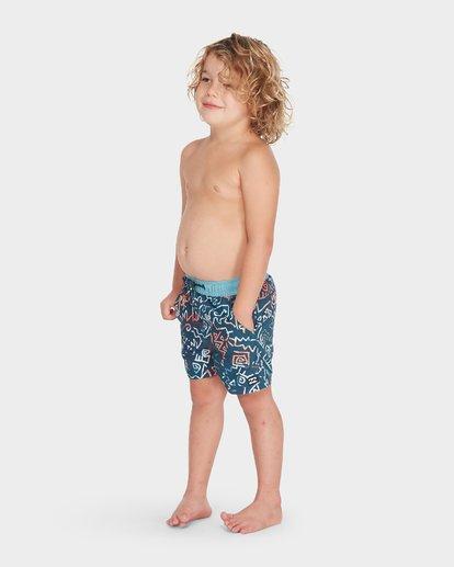 1 BOYS ISLAND LAYBACK BOARDSHORT Blue 7595401 Billabong