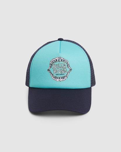 1 Groms Jaws Trucker Cap Blue 7603306 Billabong
