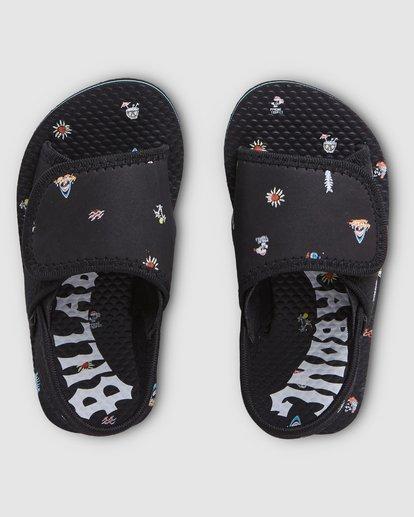 6 Groms Island Slide Thongs Black 7603937 Billabong