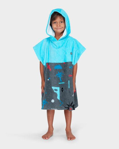 2 BOYS ISLAND HOODED TOWEL Blue 7682701 Billabong