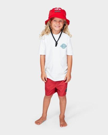 3 Groms Beach Day Bucket Hat Red 7692301 Billabong