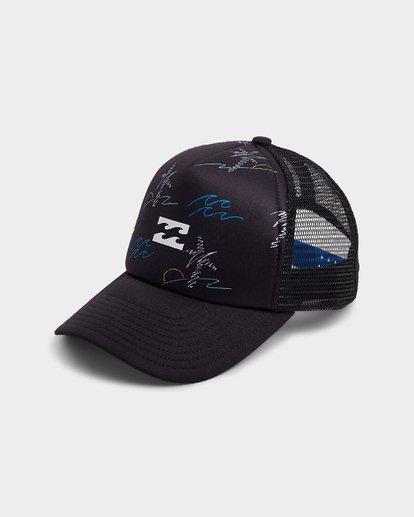 0 Groms Island Trucker Cap Black 7692303 Billabong