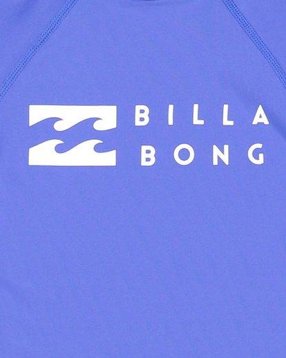 5 Boys 0-7 Union Regular Fit Rash Vest Blue 7703000 Billabong