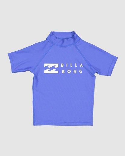 3 Boys 0-7 Union Regular Fit Rash Vest Blue 7703000 Billabong