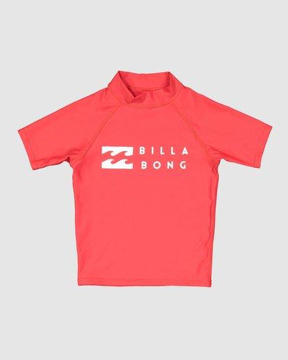 3 Groms Union Regular Fit Short Sleeve Rash Vest Red 7703000 Billabong