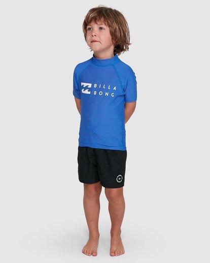 6 Boys 0-7 Union Regular Fit Rash Vest Blue 7703000 Billabong