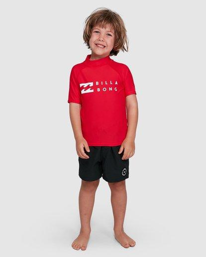6 Groms Union Regular Fit Short Sleeve Rash Vest Red 7703000 Billabong