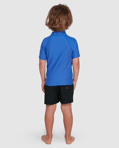 2 Boys 0-7 Union Regular Fit Rash Vest Blue 7703000 Billabong