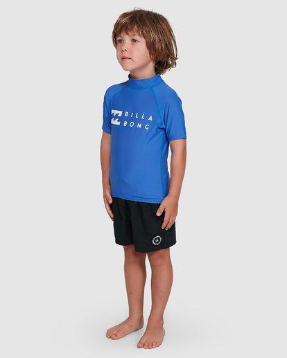 1 Boys 0-7 Union Regular Fit Rash Vest Blue 7703000 Billabong