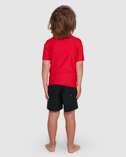 2 Groms Union Regular Fit Short Sleeve Rash Vest Red 7703000 Billabong