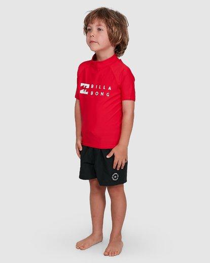 1 Groms Union Regular Fit Short Sleeve Rash Vest Red 7703000 Billabong
