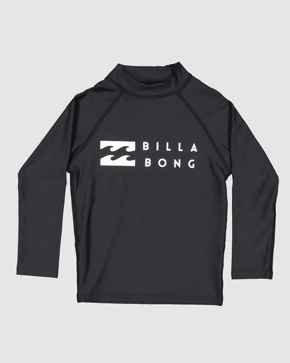 3 Groms Union Regular Fit Long Sleeve Rash Vest Black 7703001 Billabong