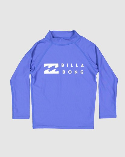 3 Groms Union Regular Fit Long Sleeve Rash Vest Blue 7703001 Billabong