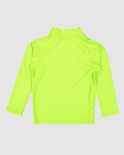 4 Groms Union Regular Fit Long Sleeve Rash Vest Green 7703001 Billabong