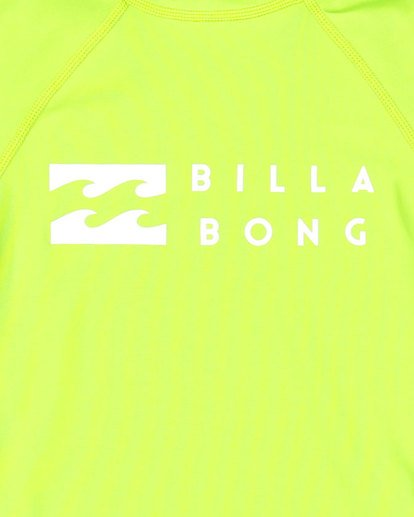 5 Groms Union Regular Fit Long Sleeve Rash Vest Green 7703001 Billabong