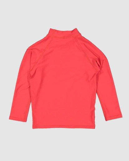 4 Groms Union Regular Fit Long Sleeve Rash Vest Red 7703001 Billabong