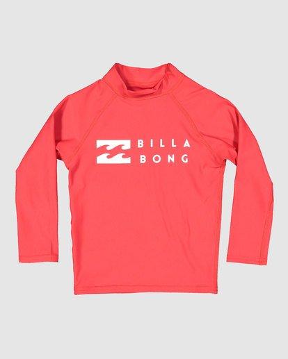 3 Groms Union Regular Fit Long Sleeve Rash Vest Red 7703001 Billabong