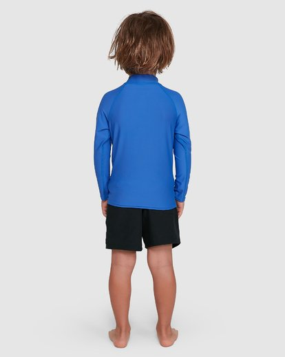 2 Groms Union Regular Fit Long Sleeve Rash Vest Blue 7703001 Billabong